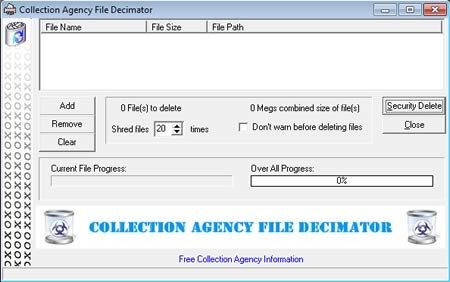 Click to view Collection Agency File Decimator 1.0 screenshot